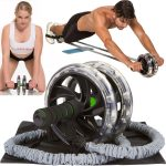AB-WOW Ab Roller Abdominal Exercise Equipment with Bonuses workut