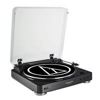 Audio-Technica AT-LP60BK Fully Automatic Belt-Drive Stereo Turntable, Black