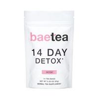 Baetea 14-Day Teatox Herbal Detox Tea Supplement with Green Tea & Ginger Root, 14 Tea Bags