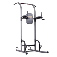 Body Champ VKR1010 Fitness Multi Function Power Tower Multi Station for Home Office Gym Dip Stands Pull Up Push up VKR, Grey, One Size