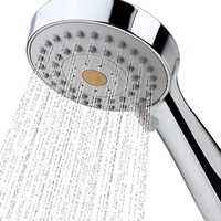 High Pressure Handheld Shower Head with Powerful Shower Spray against Low Pressure Water Supply Pipeline, Multi-functions, w 79 inch Hose Bracket Flow Regulator Chrome Finish