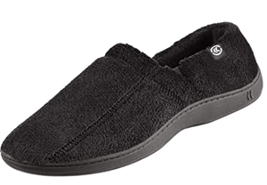 Isotoner Mens Terry Moccasin Slipper With Memory Foam