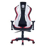 Killbee Large Ergonomic Gaming Chair Swivel Executive Office Chair with Adjustable High-Back and PU Armrest Upholstered Leather Bucket Seat Desk Chair (Red)