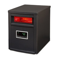 LIFE SMART LifeSmart 6 Element with Remote Large Room Infrared Heater, Black Gray
