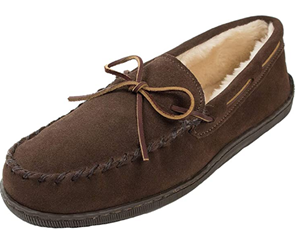 Minnetonka Mens Pile Lined Hardsole Slipper