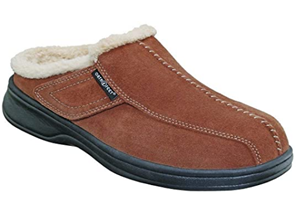 Orthofeet Most Comfortable Arch Support Asheville Diabetic Men's Orthopedic Brown Leather Slippers