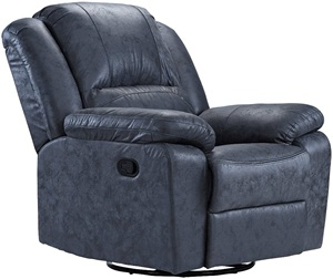 Oversize ultra-comfortable air leather fabric rocker and swivel recliner living room chair