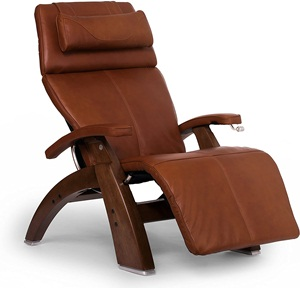 Perfect Chair PC-420 Top Grain Leather Hand-Crafted Zero-Gravity Walnut Manual Recliner, Espresso