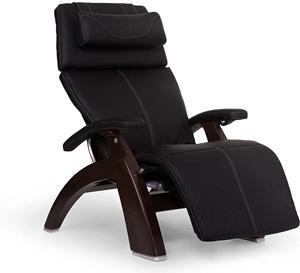 Perfect Chair PC-610 Premium Leather Zero-Gravity Hand- Crafted Therapeutic Dark Walnut Power Recliner