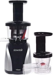 Tribest Slowstar Vertical Slow Juicer and Mincer SW-2020, Cold Press Masticating Juice Extractor
