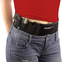 Ultimate Belly Band Holster for Concealed Carry Black Fits Gun Smith and Wesson Bodyguard, Shield, Glock 19, 42, 43, P238, Ruger LCP, and Similar Sized Guns For Men and Women