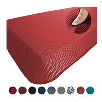 Anti Fatigue Comfort Floor Mat By Sky Mats Commercial Grade Quality Perfect for Standup Desks Kitchens and Garages Relieves Foot, Knee and Back Pain Burgundy