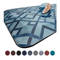 Anti Fatigue Comfort Floor Mat by Sky Mats Commercial Grade Quality Perfect for Standup Desks Kitchens and Garages Relieves Foot Knee and Back Pain Blue Diamonds