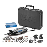Dremel 4300 5 40 High Performance Rotary Tool Kit with LED Light- 5 Attachments & 40 Accessories Engraver Sander and Polisher Perfect for Grinding Cutting Wood Carving Sanding and Engraving