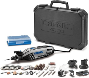 Dremel 4300-5 40 High Performance Rotary Tool Kit with LED Light- 5 Attachments