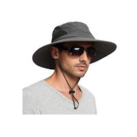 EINSKEY Sun Hat for Men Women, Sun Protection Wide Brim Bucket Hat Waterproof Breathable Packable Boonie Hat for Fishing