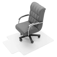Floortex Polycarbonate Chair Mat with Lip for Low Medium Pile Carpets