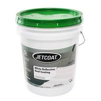 Jetcoat Cool King Reflective Acrylic Roof Coating, Waterproof Elastomeric Sealant, 5 Gallon, 5 Year Protection (White)