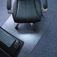 Marvelux Heavy Duty Polycarbonate Office Chair Mat for Low Standard and Medium Pile Carpeted Floors Rectangular Transparent Carpet Protector Multiple Sizes