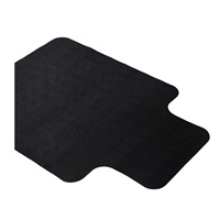 Office Chair Mat for Hardwood and Tile Floor with Lip Black Anti-Slip Non-Curve Under the Desk Mat Best for Rolling Chair and Computer Desk Non Toxic and no BPA Plastic Protector