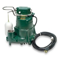 Zoeller 98-0001 115-Volt 1-2 Horse Power Model M98 Flow-Mate Automatic Cast Iron Single Phase Submersible Sump Effluent Pump