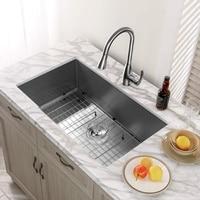 MENSARJOR 32'' x 19'' Single Bowl Kitchen Sink 16 Gauge Undermount Stainless Steel Kitchen Sink, Bar or Prep Kitchen sink