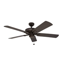 Honeywell Belmar 52-Inch Indoor Outdoor Ceiling Fan, Five Damp Rated Fan Blades, Bronze