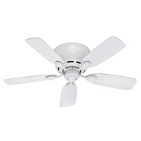 Hunter Fan Company Hunter 51059 Transitional 42``Ceiling Fan from Low Profile IV Collection in White Finish