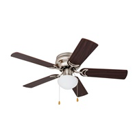Prominence Home 80029-01 Alvina Led Globe Light Hugger Low Profile Ceiling Fan 42 inches Satin Nickel
