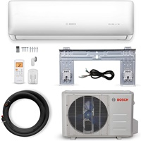 Bosch Thermotechnology Bosch Ultra-Quiet 18K BTU 230V Mini Split Air Conditioner & Cooling System Generation 2 with Inverter Heat Pump, 21 SEER High-Efficiency - Energy Star Certified, Multicolor