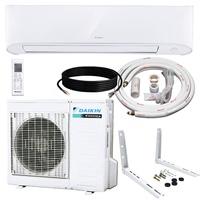 Daikin 18,000 BTU 17 SEER Wall-Mounted Ductless Mini-Split Inverter Air Conditioner Heat Pump System 15 Ft. Installation Kit & Wall Bracket (230 Volt) 10 Year Limited Warranty