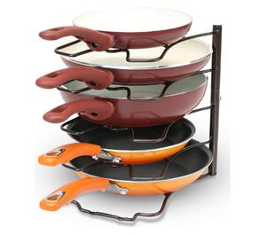 DecoBros Kitchen Counter & Cabinet Pan Organizer