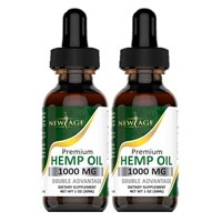 Hemp Oil Extract for Pain & Stress Relief - 2 Pack - 1000mg of Hemp Extract - Grown & Made in USA - 100% Natural Hemp Drops - Helps with Sleep, Skin & Hair