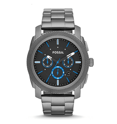 Men's Machine Stainless Steel Chronograph Quartz Watch