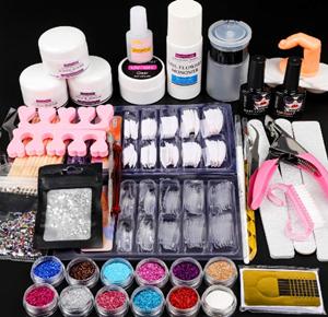 Morovan 12 Glitter Acrylic Nail Kit