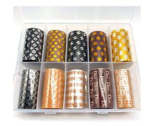 YESORNO 10 Rolls Nail Art Transfer Foil Stickers